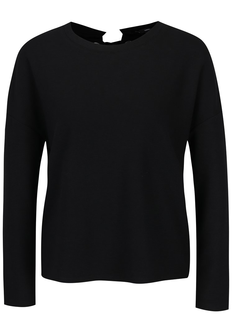 Černé tričko se šněrováním TALLY WEiJL