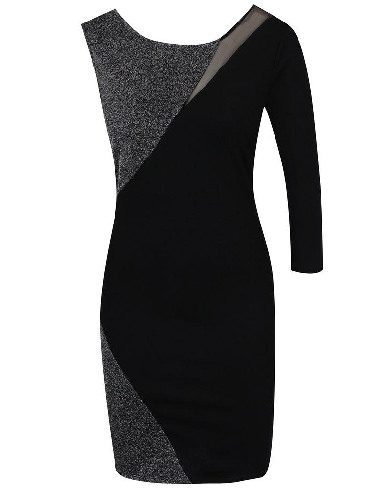 Černé pouzdrové šaty bez rukávu TALLY WEiJL
