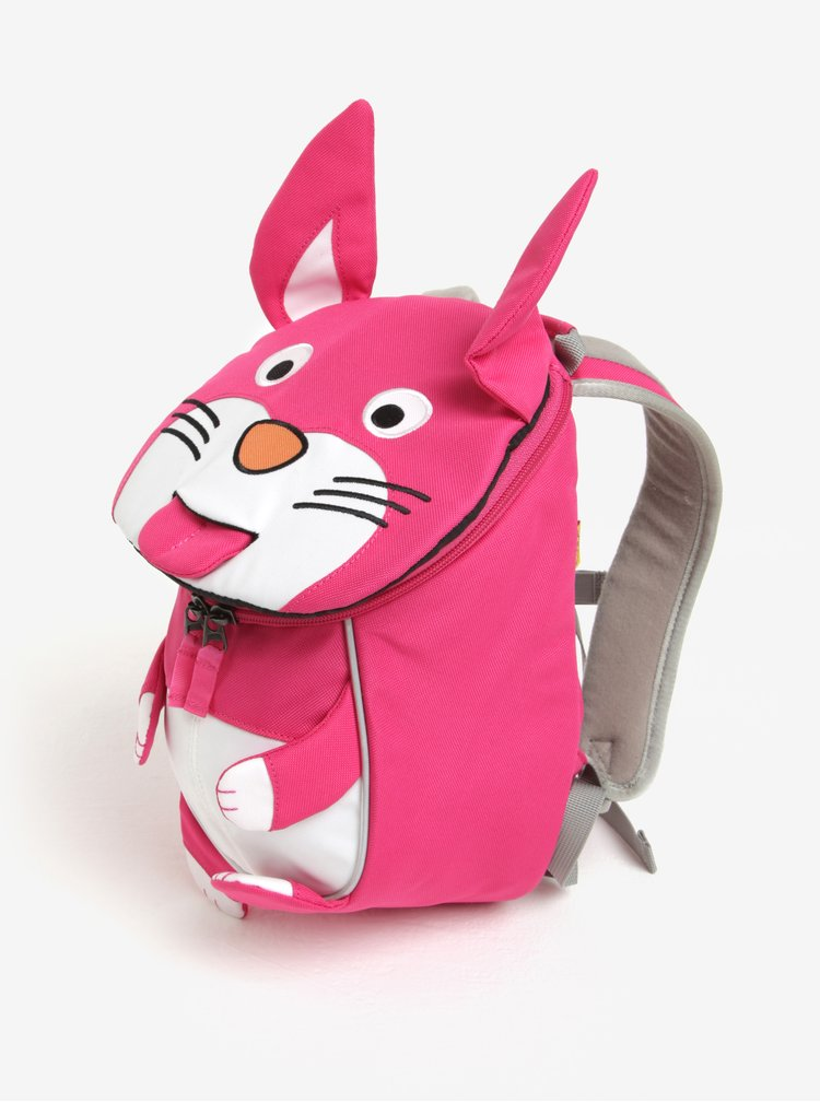 Růžový batoh ve tvaru zajíce Affenzahn 4 l