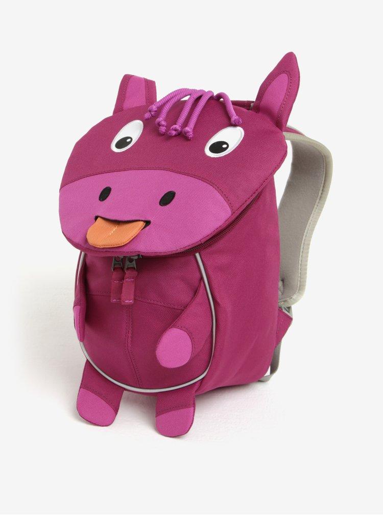 Fialový batoh ve tvaru koníka Affenzahn 4 l