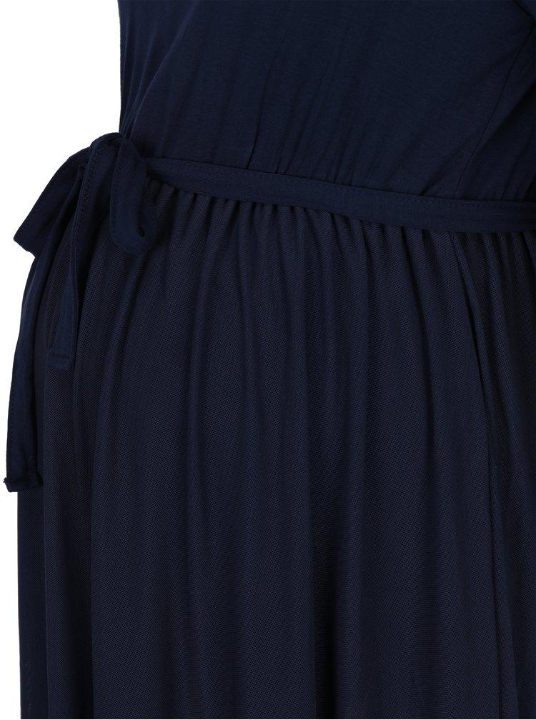 Tmavě modré těhotenské šaty s páskem Mama.licious Bianka