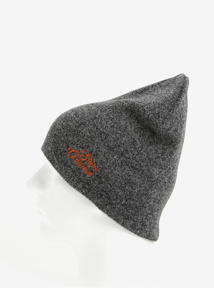 Tmavě šedá žíhaná čepice Shine Original