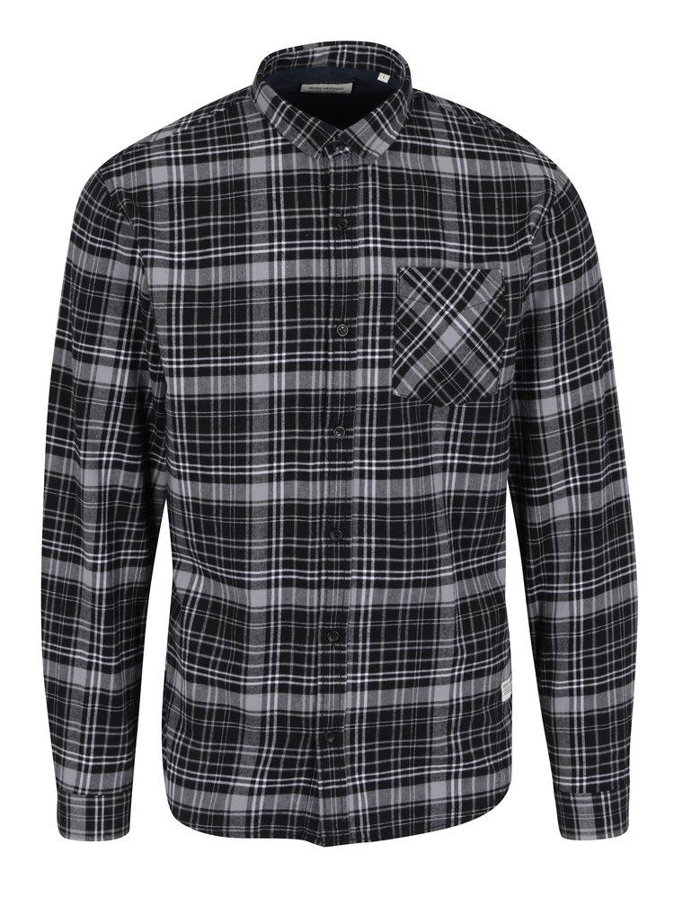 Čierno-sivá károvaná košeľa Shine Original