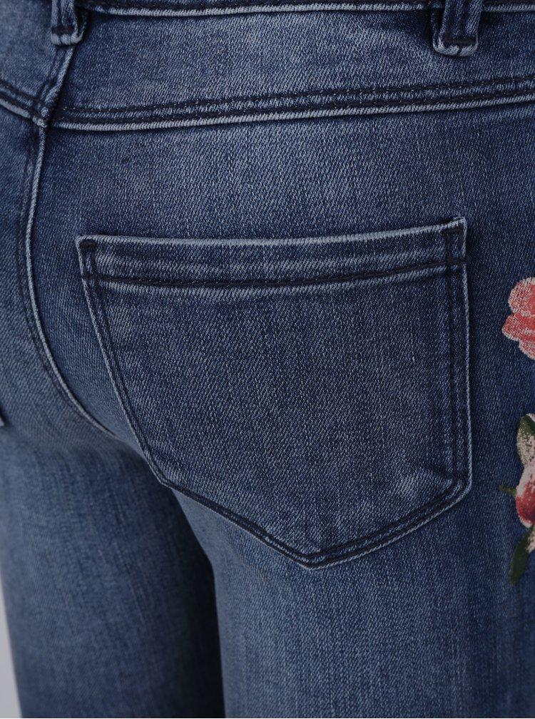 Modré holčičí skinny džíny s potiskem name it Banne