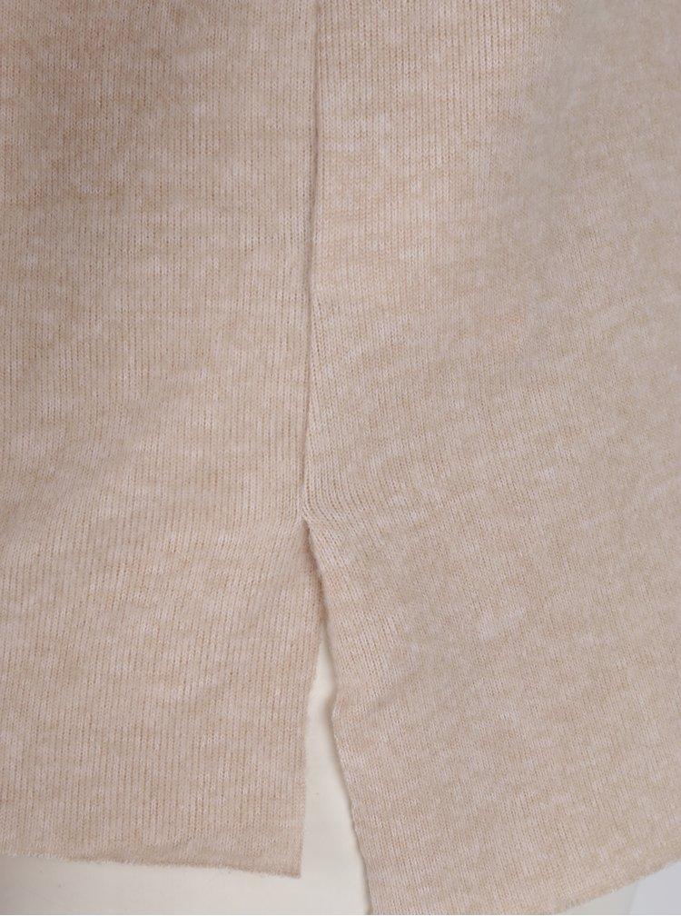 Béžový lehký svetr s 3/4 rukávem Haily´s Lena
