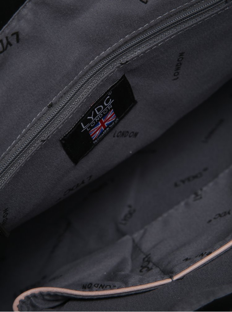 Geanta roz cu manere si detalii argintii - LYDC