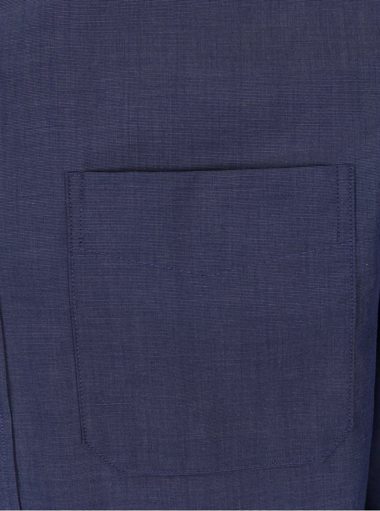 Tmavě modrá žíhaná formální slim fit košile Selected Homme Donewawe