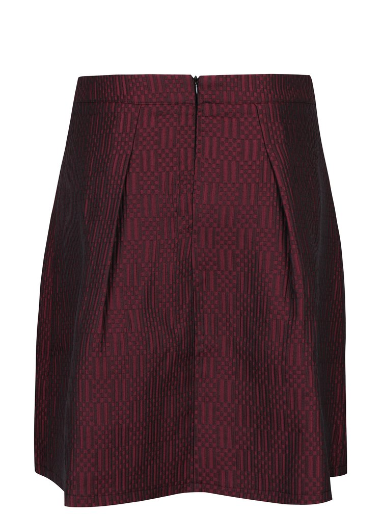 Vínová vzorovaná sukně Smashed Lemon