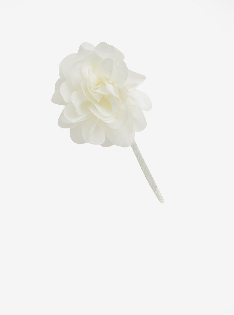Krémová holčičí čelenka s ozdobnými květy name it Titianna