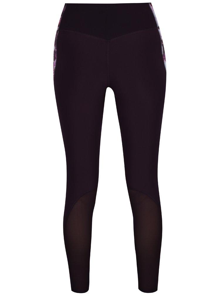 Růžovo-fialové dámské květované funkční legíny Nike Power Legend