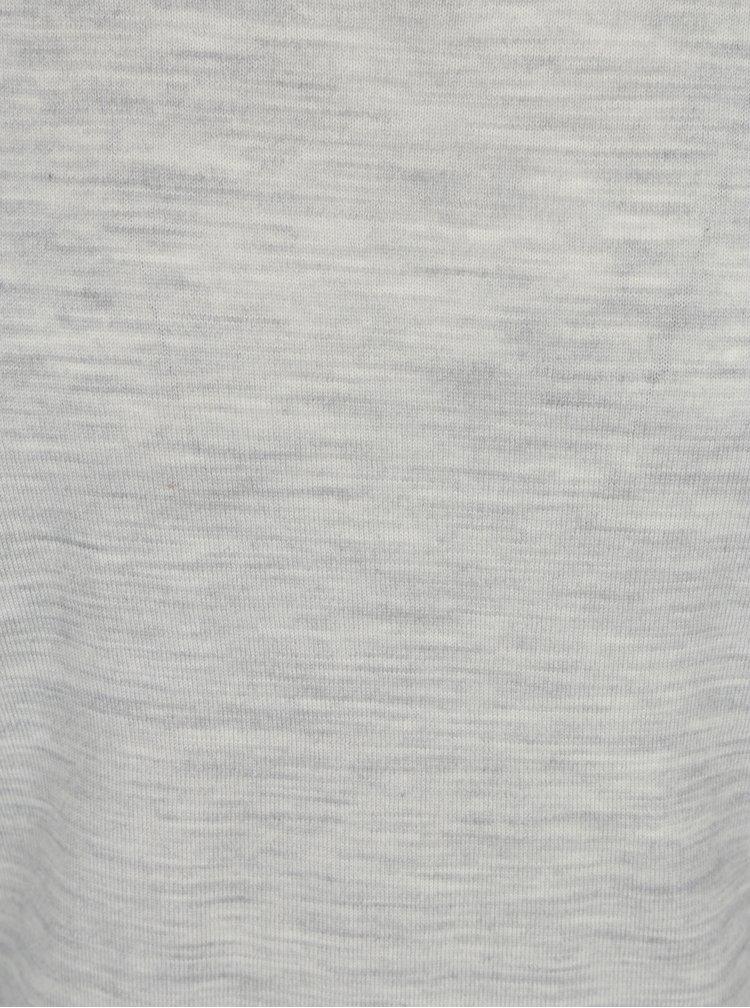 Světle šedý žíhaný svetr z Merino vlny Selected Homme Tower