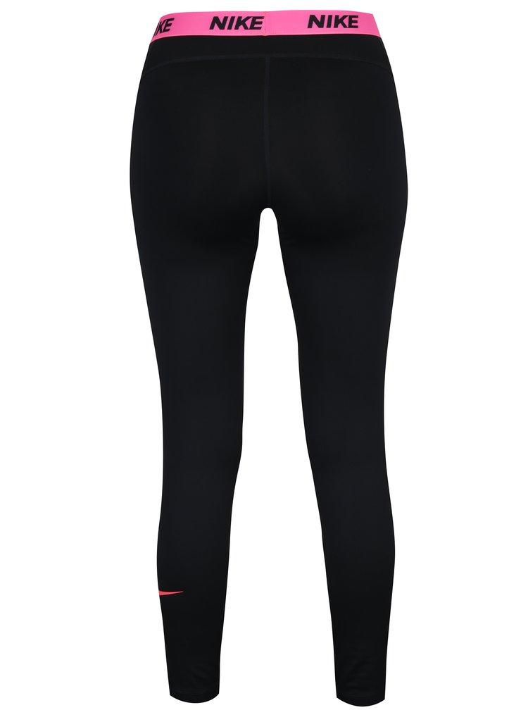 Colanti sport negru&roz cu print logo pentru femei Nike