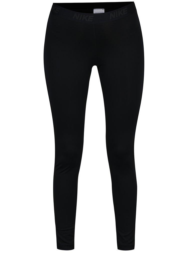 Colanti sport negri cu print logo pentru femei Nike