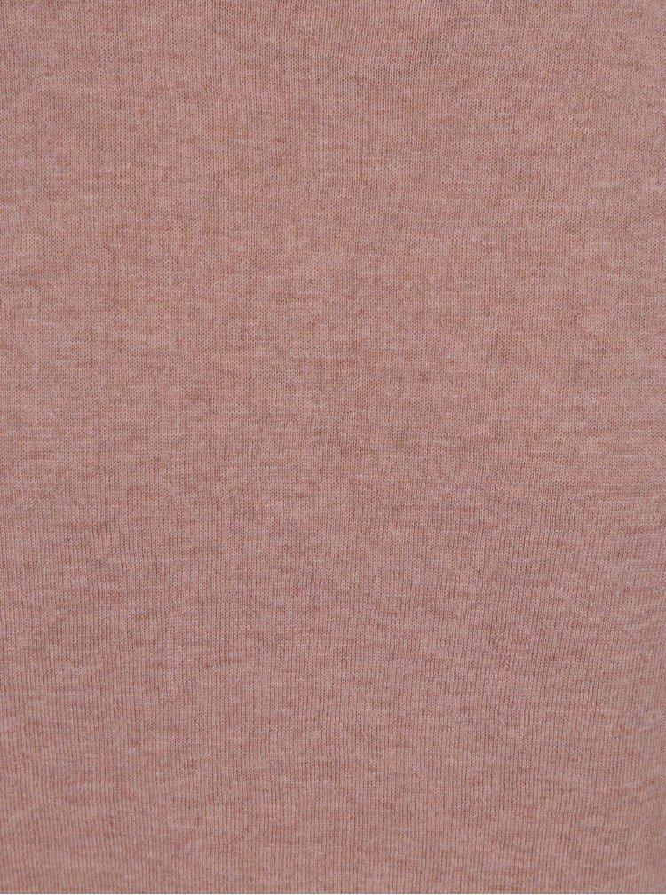 Starorůžový žíhaný svetr s příměsí hedvábí Selected Homme Dome