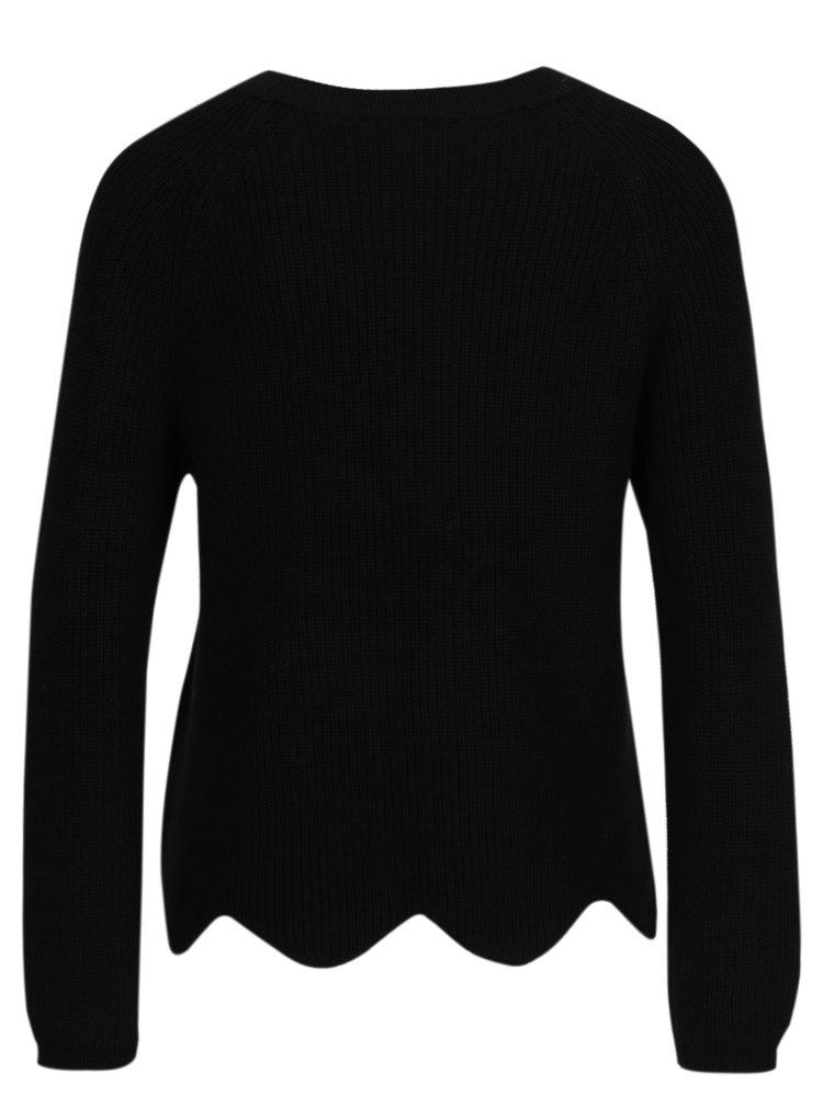 Černý svetr s příměsí vlny Selected Femme Velva