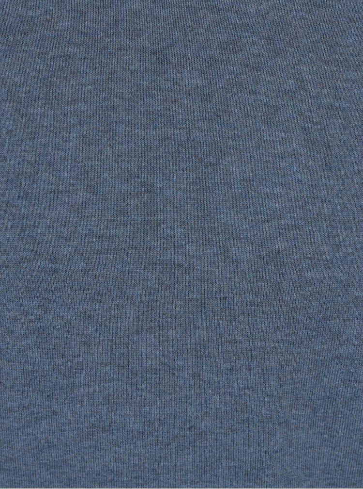 Modrý svetr s příměsí hedvábí Selected Homme Tower