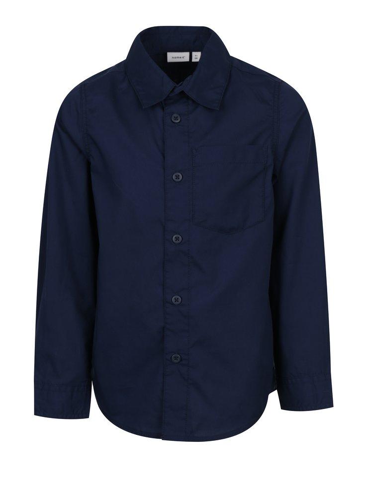 Tmavě modrá klučičí košile name it Ilias