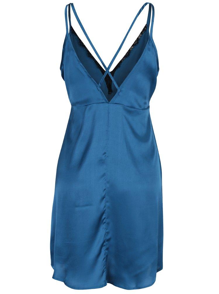 Camasa de noapte albastru petrol cu dantela Dorothy Perkins