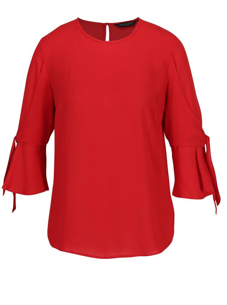 Červená blúzka so zvonovými rukávmi Dorothy Perkins