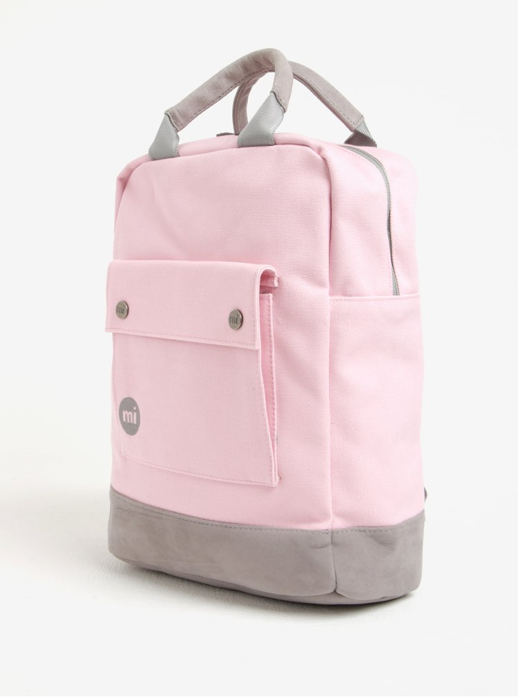 Růžový dámský batoh Mi-Pac Tote Backpack Canvas 15 l