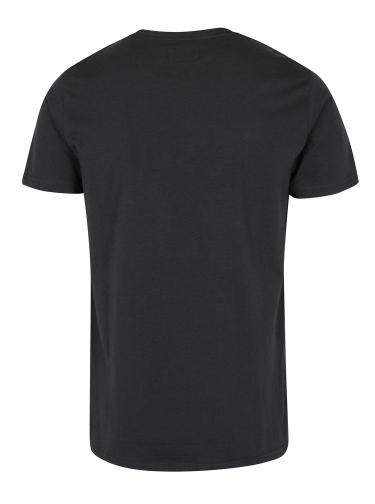 Tricou negru cu print 3 D Shine Original