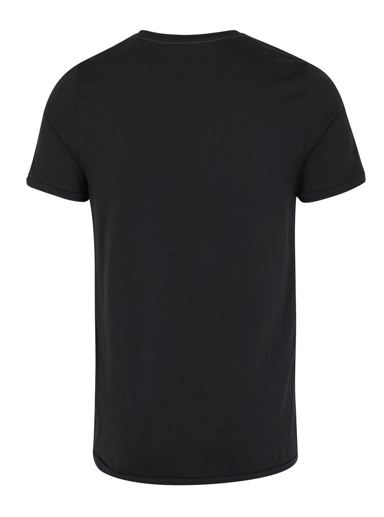 Černé tričko s potiskem Jack & Jones Vintage Rock