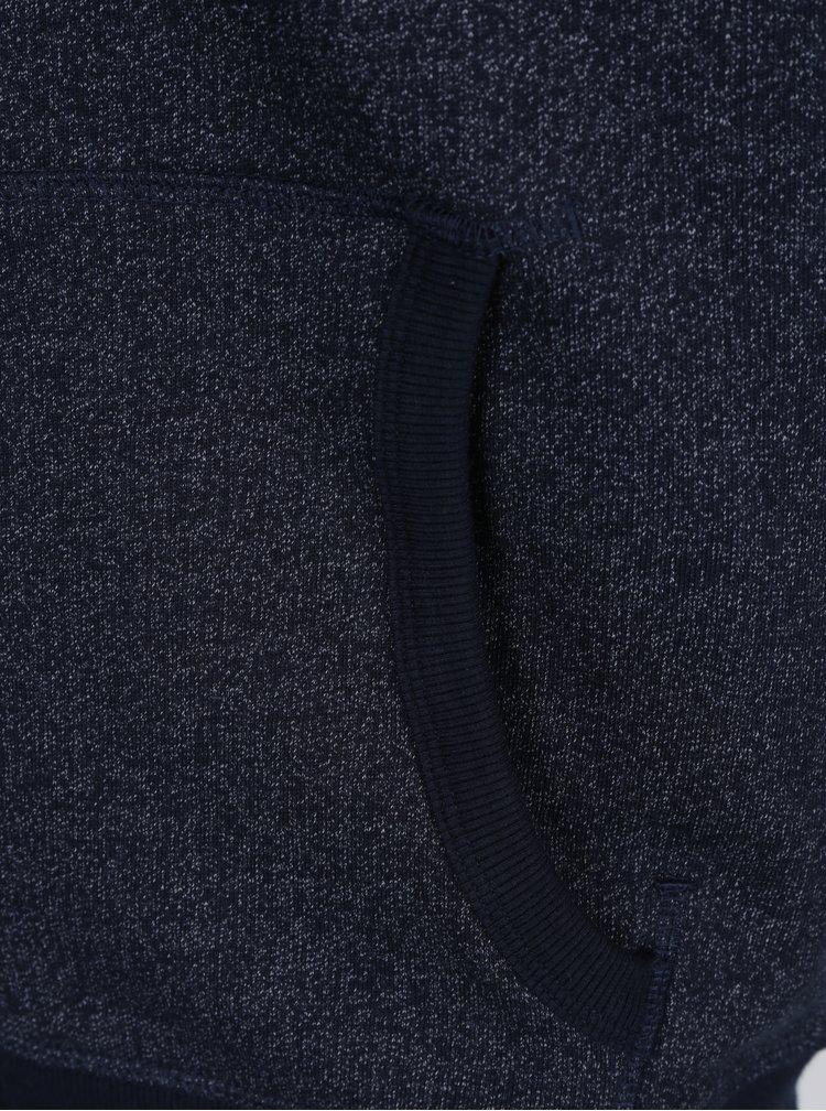 Tmavě modrá žíhaná mikina s kapucí Selected Homme Simon