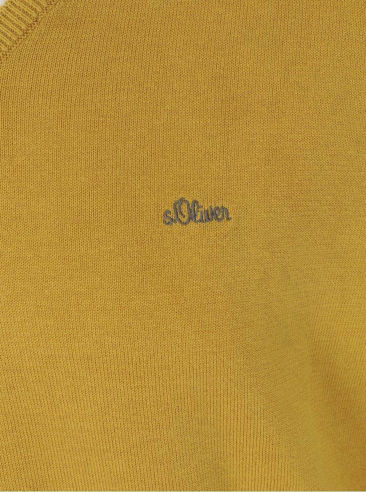 Pulover galben cu anchior pentru barbati - s.Oliver
