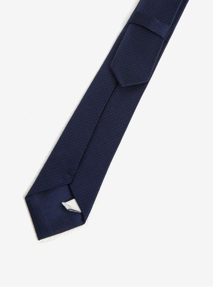 Tmavě modrá klučičí kravata Name it Pisp