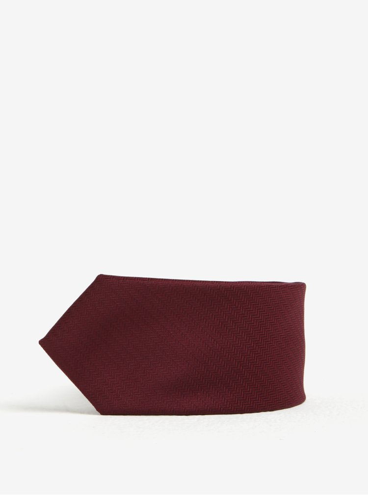 Cravata bordo - Selected Homme Xavier