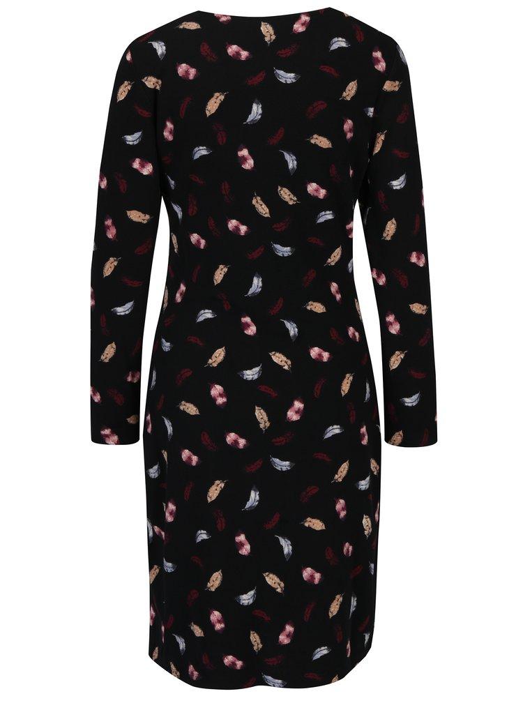 Černé šaty s motivem pírek Smashed Lemon