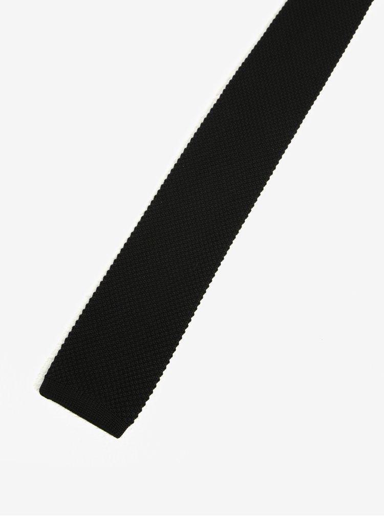 Cravata neagra  vintage tricotata - Homme Neal