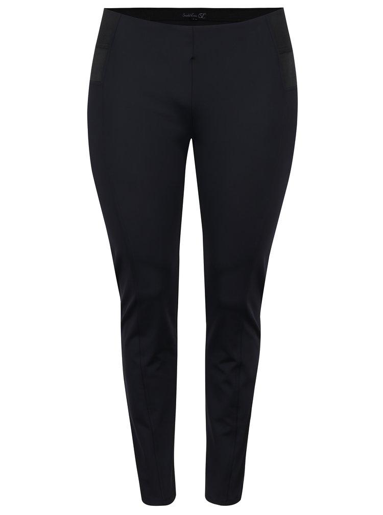 Černé elastické kalhoty La Lemon