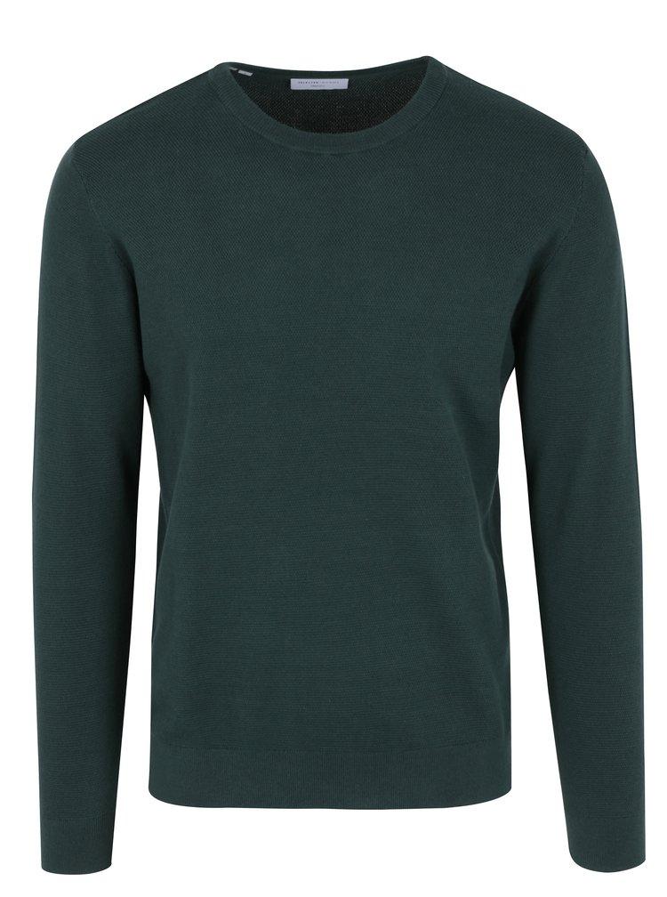 Tmavě zelený lehký svetr Selected Homme Damian
