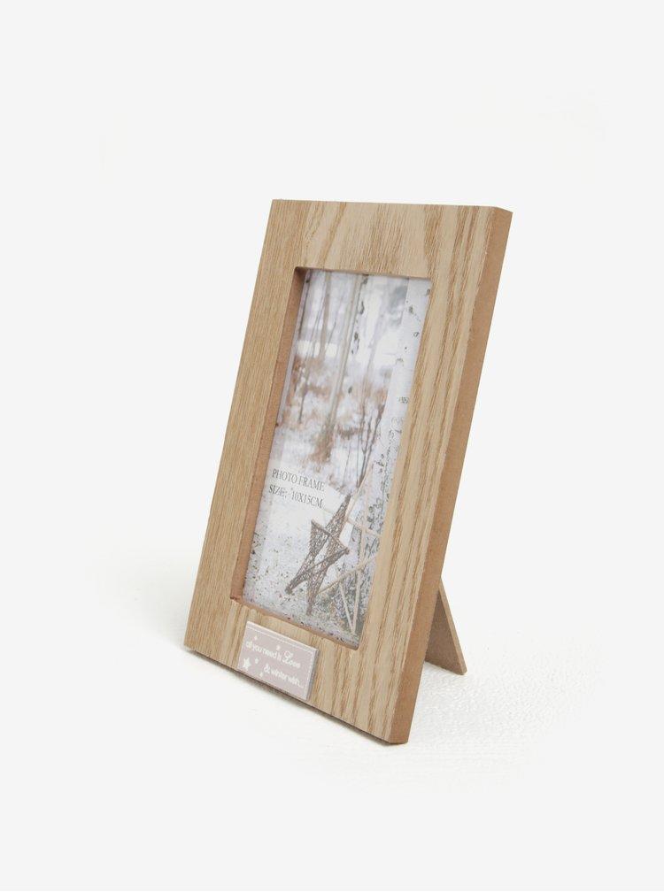 Rama foto maro cu aspect de lemn - Kaemingk