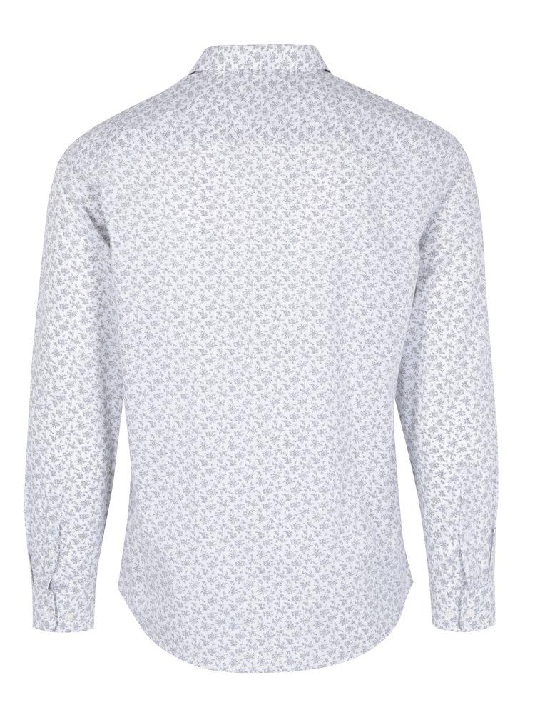 Bílá košile s jemným vzorem Selected Homme Doneed
