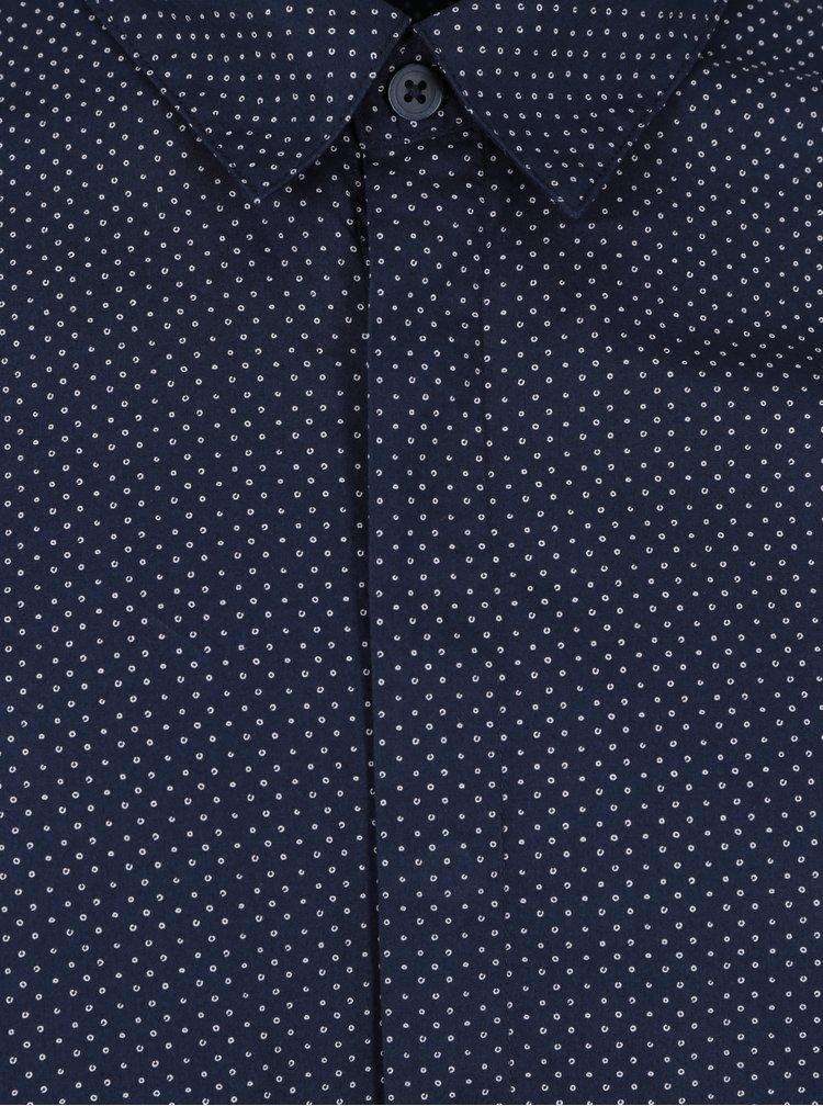 Camasa bleumarin din bumbac cu buline - Selected Homme Doneelan