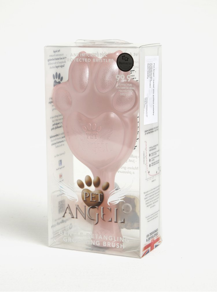 Perie mare roz in pentru animale Pet Angel