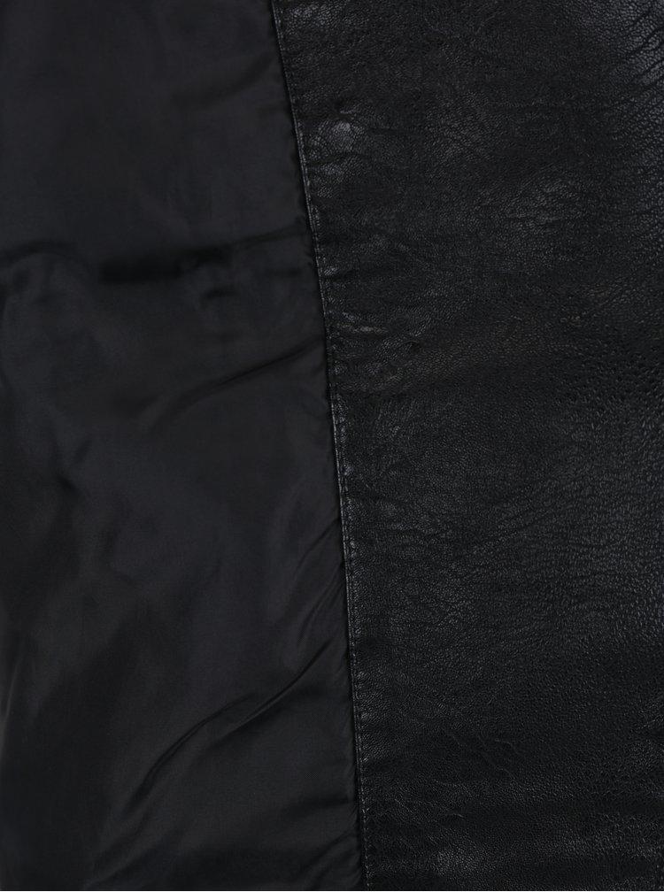Černý koženkový křivák s kovovými detaily Dorothy Perkins