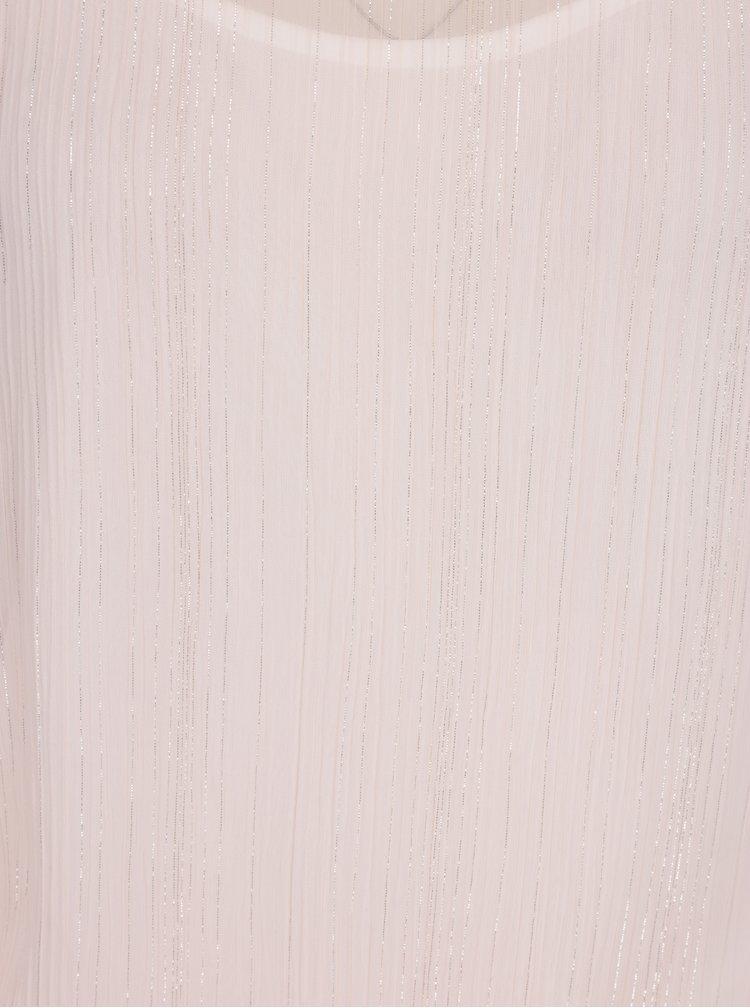 Světle růžová halenka s dlouhým rukávem Dorothy Perkins