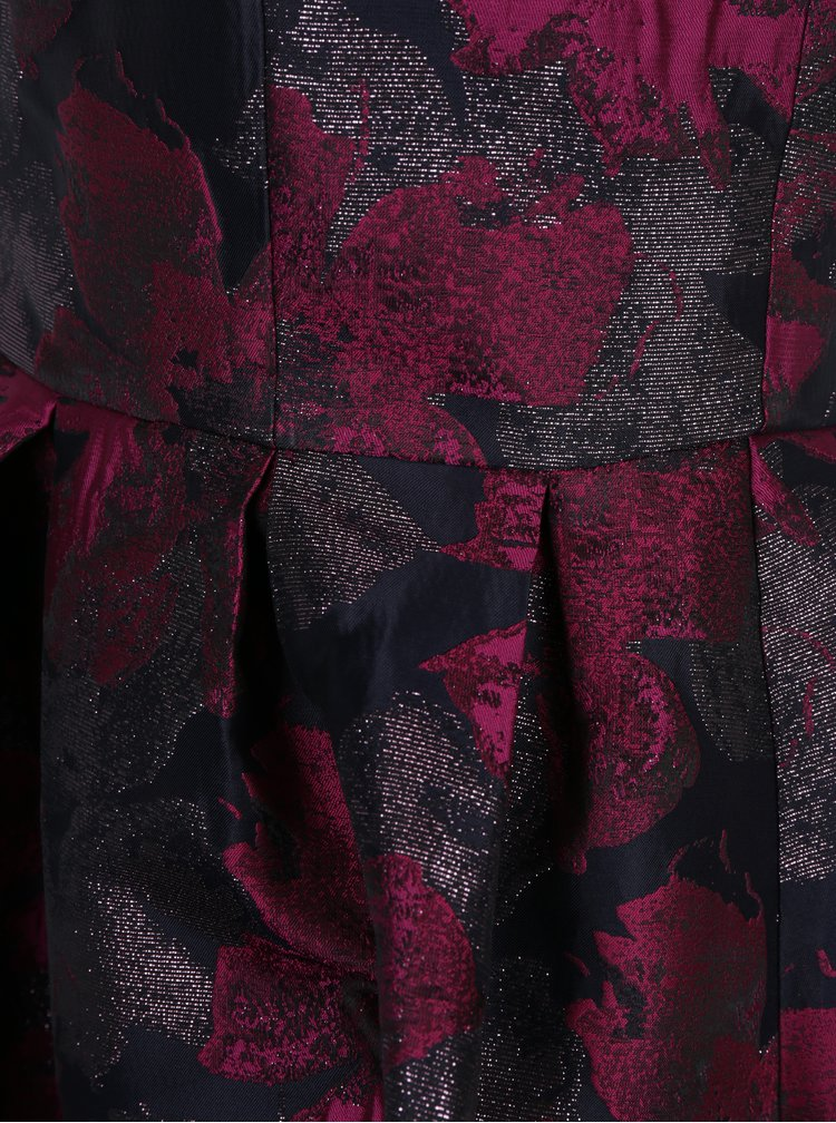 Rochie neagra cu model floral si umeri expusi Dorothy Perkins