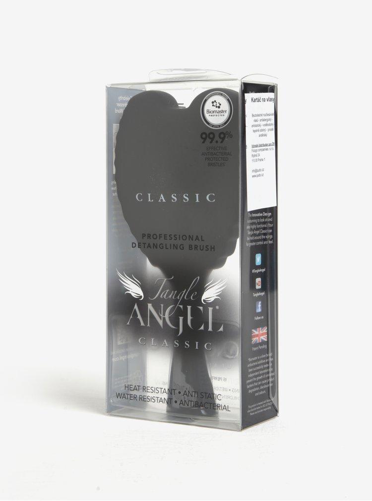 Černý velký hřeben ve tvaru andělských křídel Tangle Angel Classic