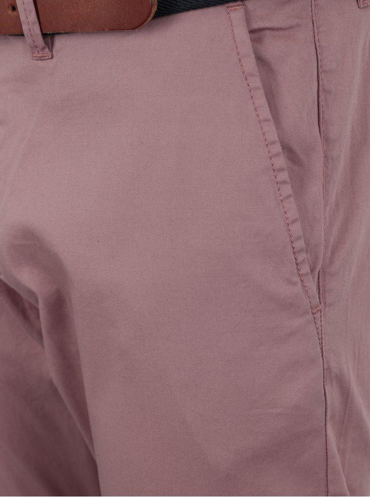 Světle růžové slim fit chino kalhoty Selected Homme Yard