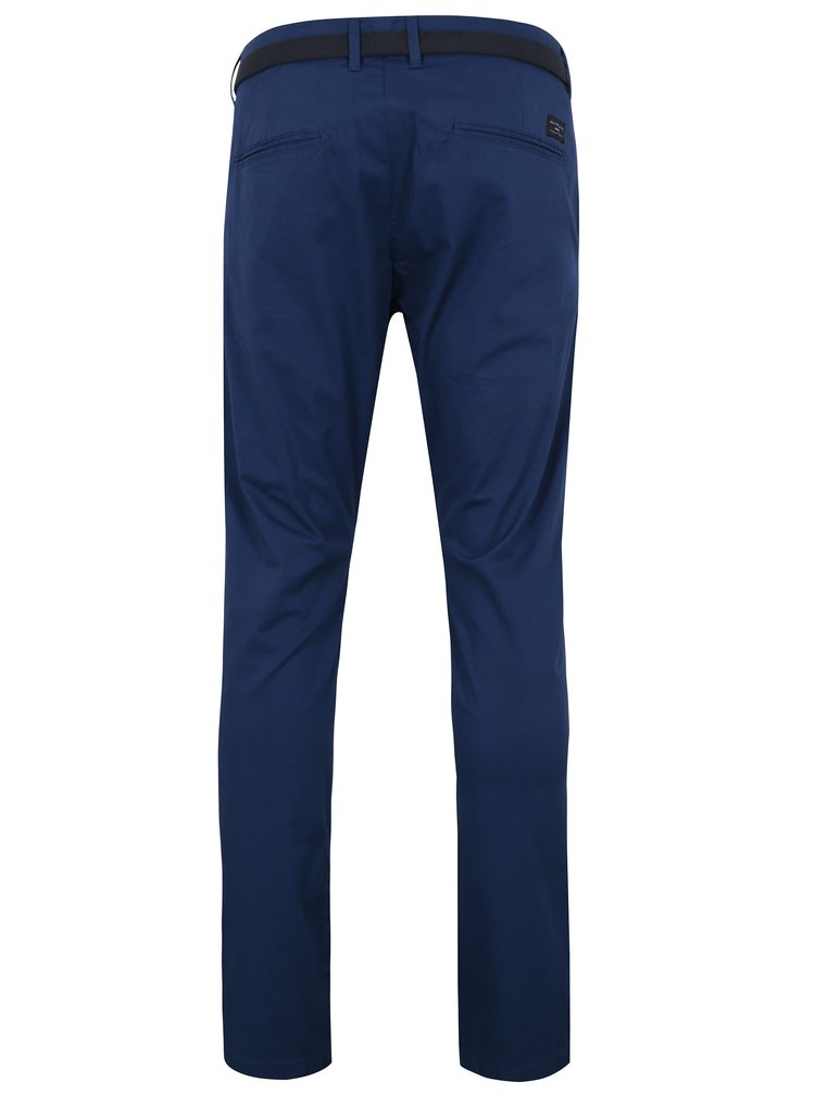 Modré slim fit chino kalhoty Selected Homme Yard