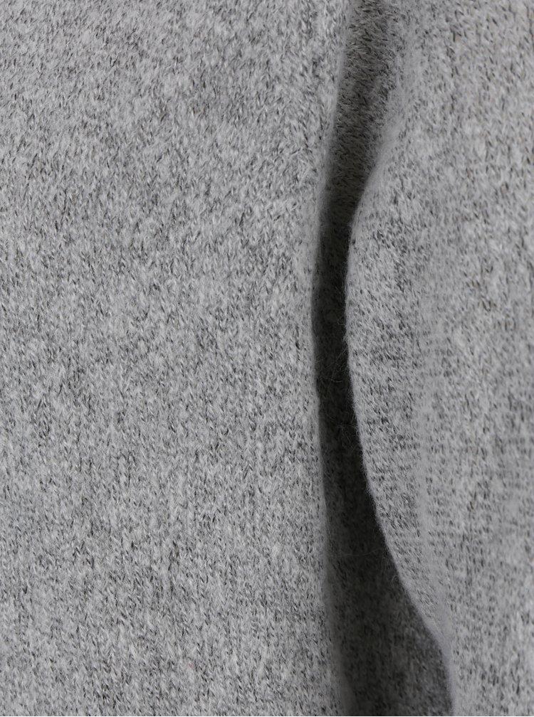 Světle šedý žíhaný kardigan Jacqueline de Yong Day light