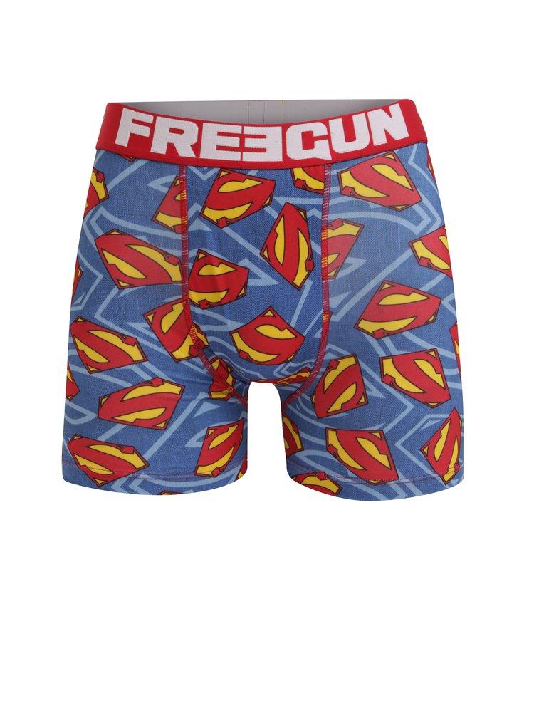 Červeno-modré pánské boxerky Superman Freegun