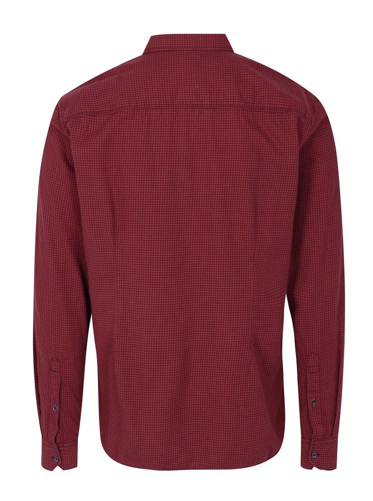 Camasa slimf fit rosu cu negru cu buzunare pentru barbati s.Oliver