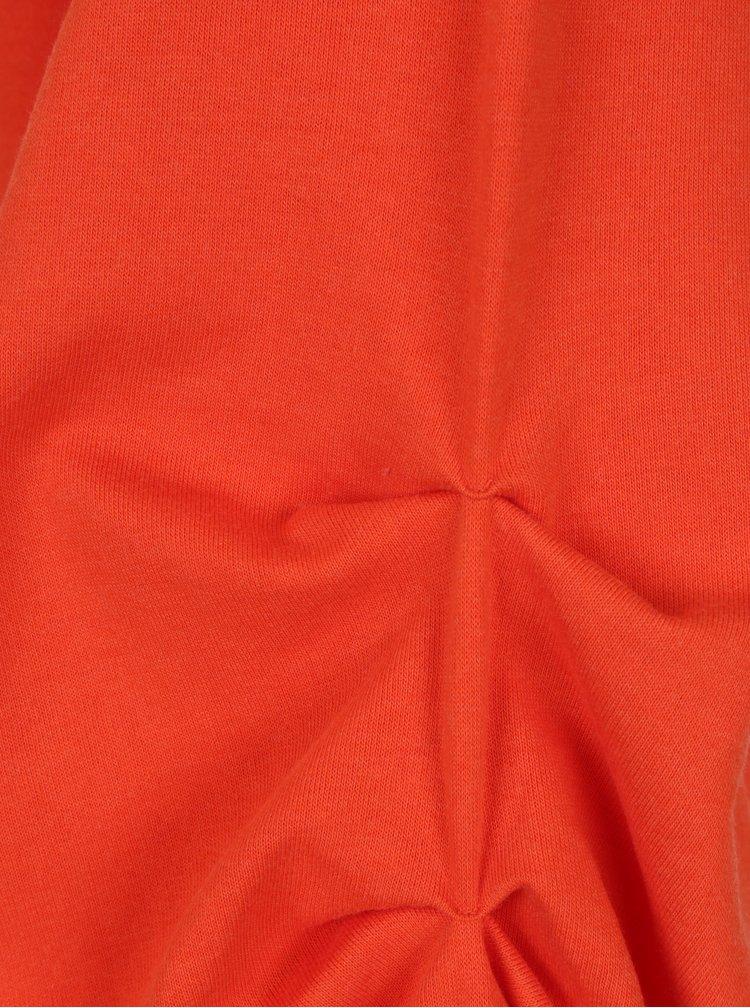Červená mikina s kapucí VERO MODA Ari Volume