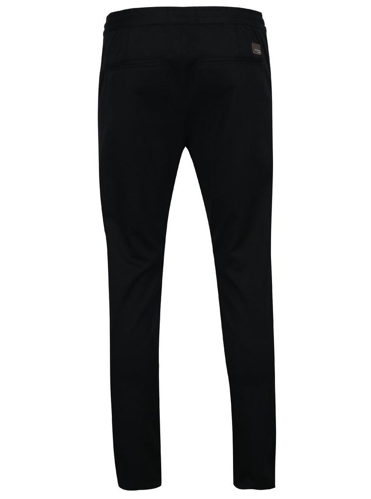 Pantaloni negri cu talie elastica Lindbergh