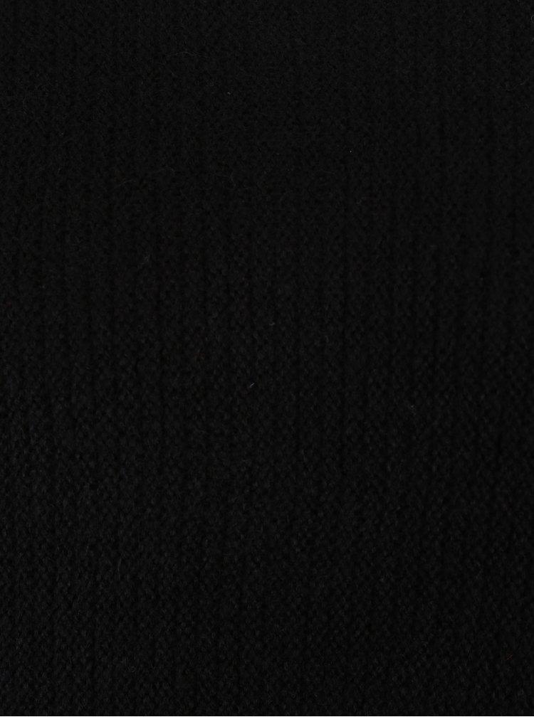 Černý mohérový svetr s lodičkovým výstřihem Noisy May Abbey